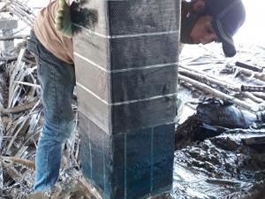 Thi công dán sợi carbon TORAY gia cố cầu đường