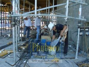Bơm chèn vữa gia cố bê tông tại Đà Nẵng