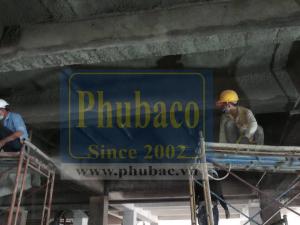 Phun bê tông dầm, sàn nhà xưởng